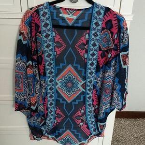 Aztec print kimono Maurice's size l/xl